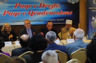 Përfaqësues nga Federata Për Paqe Universale, mbajtën konferencë njëditore, në Prishtinë