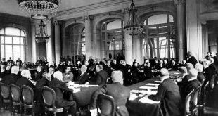 Më 28 qershor 1919 u mbajt Konferenca e paqes në Paris, e cila legjitimoi aneksimin e trojeve shqiptare nga Serbia, Mali i Zi, Bullgaria e Greqia
