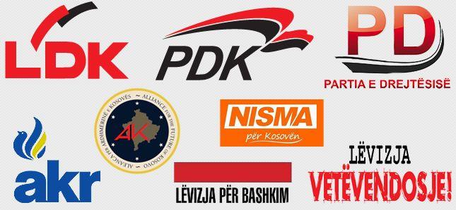 Partitë politike në Kosovë