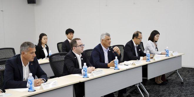 Kryetari i Republikës së Kosovës, Hashim Thaçi kërkon nga investitorët japonez që të investojnë në vendin tonë