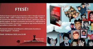 """Nesër promovohet libri """"Fëmijët martirë të Kosovës 1981 – 1999″, të autorëve Nusret Pllana dhe Hanëmshahe Ilazi"""