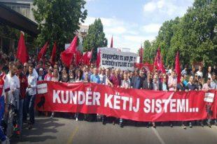Shkupi sot protestoi kuqezi