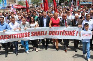Në Deçan u mbajt protestë gjithëpopullore kundër faljes së tokave Manastirit serb