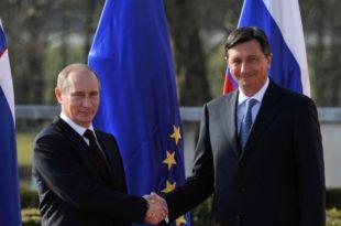 Vizita e Putinit në Slloveni pjesë e fushatës për zbutjen e sanksioneve ndaj Moskës