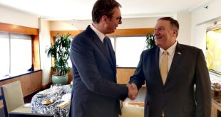 Pompeo kërkon haptas rifillimin e negociatave mes Serbisë dhe Kosovës dhe njohje të plotë të ndërsjellë