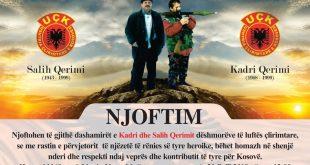 Më 20 prill 2019 përkujtohen Salih dhe Kadri Qerimi në njëzet vjetorit të rënies heroike të tyre