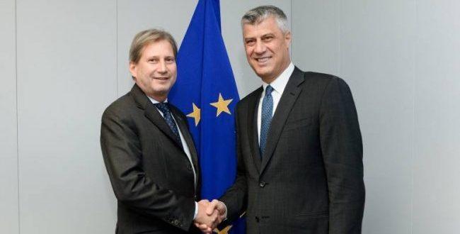 Kryetari Thaçi sot në Bruksel takohet me presidentin e KE-së Donald Tusk dhe komisionerin Johannes Hahn