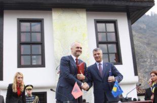 Kryetari, Hashim Thaçi, pritet të takohet në Prizren me kryeministrin e Shqipërisë, Edi Rama