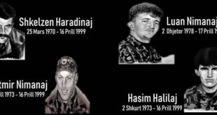 Fatmir Limaj i përkujton dëshmorët Shkëlzen Haradinaj, Fatmir e Luan Nimanaj dhe Hasim Halilaj në 22 vjetorin e rënies së tyre