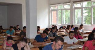 """Në disa fakultete të Universitetit të Prishtinës """"Hasan Prishtina"""" sot mbahet provimi pranues"""