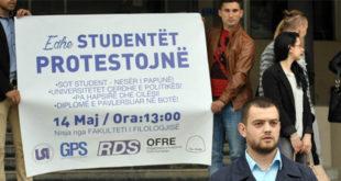 Studentët e të gjitha Universiteteve të Kosovës do të mbajnë një protestë më 14 maj