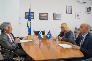 Ministrja, Bajrami takoi amabsadorin slloven në vendin tonë