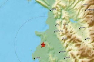 Shqipëria është gotitur nga një tërmet me magnitudë 3.4 por nuk raportohet për të lënduar apo dëme