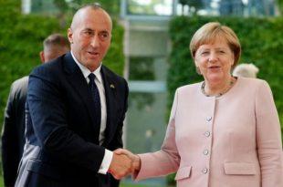 Kryeministri Haradinaj, pranon një letër urimi për festat e fundvitit nga kancelarja gjermane, Angela Merkel