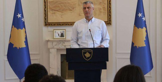 Kryetari i Kosovës, Hashim Thaçi thotë se askush nuk ka të drejtë t'i etiketojë ushtarët e UÇK-së
