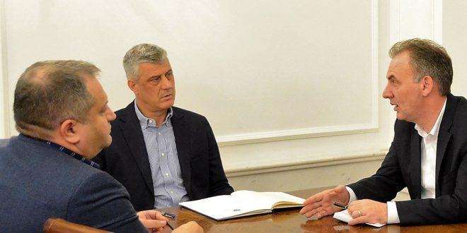 Kryetari Hashim Thaçi, Fatmir Limaj dhe Shpend Ahmeti, qartësuan situatën që ndërlidhet me dialogun e Brukselit