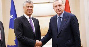 Kryetari Thaçi e uron popullin turk dhe Erdoganin me rastin e ditës së Republikës së Turqisë