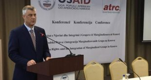 Thaçi: Kosova i ka të gjitha ligjet me të cilat i mbron të drejtat e të gjithë qytetarëve të saj