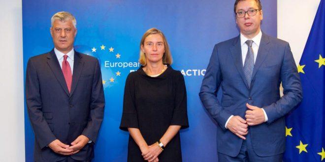 Takimi: Thaçi-Mogherini-Vuçiq i dështuar dhe pa asnjë rezultat