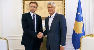Kryetari Thaçi, ka pritur sot në takim lamtumirës ambasadorin e Norvegjisë, Per Strand Sjaastad
