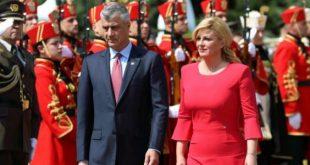 Kryetarja kroate Kitaroviç ia bënë me dije edhe njëherë Thaçit se është kundër idesë se tij për ndryshim të kufijve
