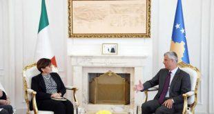Kryetari Thaçi, sot ka pritur në një takim ministren e Mbrojtjes së Republikës së Italisë, Elisabetta Trenta