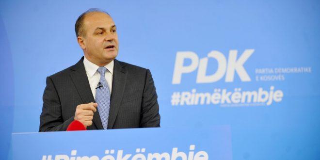 Kandidati për kryeministër, Enver Hoxhaj prezantoi platformën e PDK-së për rimëkëmbje të Kosovës