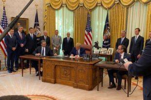 Pikat e Marrëveshjes së Kosovës me Serbinë, nënshkruar më 4 shtator 2020 në Uashington