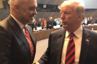 Trump i shkruan kryeministrit Rama, e falënderon për lidershipin dhe mbështetjen e marrëveshjes Kosovë - Serbi