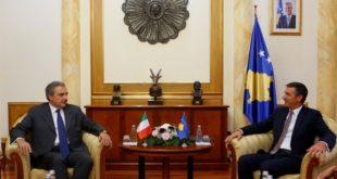 Kryekuvendari, Veseli, priti në takim ambasadorin e ri të Italisë në Kosovë, Piero Cristoforo Sardi