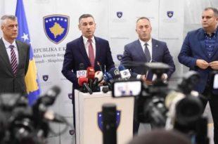 Veseli i fton në takim koordinues për Dialogun Thaçin, Haradinajn, ekipin negociator si dhe përfaqësuesit e opozitës